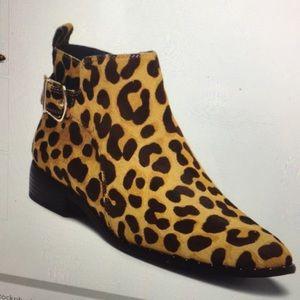 Steve Madden Cain Leopard calf hair boots